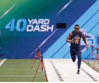 It's official! WR John Ross runs 4.22 40-yard dash and breaks Chris Johnson's record (link in bio): YARD  40  DASH  WD It's official! WR John Ross runs 4.22 40-yard dash and breaks Chris Johnson's record (link in bio)