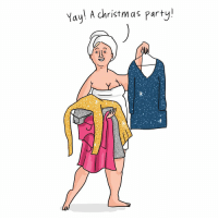 Memes, Party, and 🤖: Yay! A christm as party! All this effort for nothing (by @beckybarnicomics)