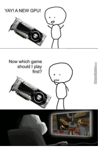 Money well spent, huh?: YAY! A NEW GPU!  Now which game  should I play  first? Money well spent, huh?