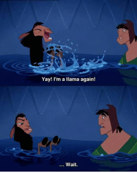 The Emperor's New Groove: Yay! I'm a llama again!  . Wait. The Emperor's New Groove