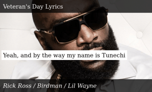 Yeah, and by the way my name is Tunechi: Yeah, and by the way my name is Tunechi