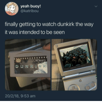 """Yeah, Game, and Http: yeah buoy!  @katribou  finally getting to watch dunkirk the way  it was intended to be seen  GAME BOY ADVANCE  DUNKİ  GAME BOYADVANCE SP  20/2/18, 9:53 am <p>Need Appraisal: Easy Fix, Possible High Return - Pump and Dump; Normification Indefinite. via /r/MemeEconomy <a href=""""http://ift.tt/2HDZTFy"""">http://ift.tt/2HDZTFy</a></p>"""