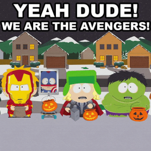 """""""A Nightmare on Face Time"""" - s16e12: YEAH DUDE!  WE ARE THE AVENGERS! """"A Nightmare on Face Time"""" - s16e12"""