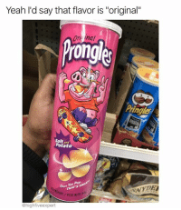 """Memes, Pop, and Yeah: Yeah I'd say that flavor is """"original""""  Ori inal  rongle  ingles  Salt and  Potato  Once You PopaE  MATS OR  NYDE  GHT PESO NET0  @highfiveexpert Once you pop @superdeluxe you're hooked!"""