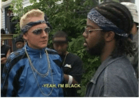 Marshall Mathers, later known as Eminem, participating in a rap battle (Detroit, 1988): -YEAH, I'M BLACK. Marshall Mathers, later known as Eminem, participating in a rap battle (Detroit, 1988)