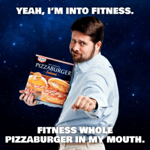 Yeah Im Into Fitness: YEAH, I'M INTO FITNESS.  Dr.Oetker  OUR ORIGINAL  PIZZABURGER  Salami-  2BURGER/BURGERS  FITNESS WHOLE  PIZZABURGER IN MY MOUTH