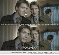 "Love, Memes, and Yeah: Yeah, imagine if something went wrong and we ended up a scrawny, specky git  FOREVER  Like this? You'll hate  MUGGLENET MEMES.COM <p>Gotta love the twins! <a href=""http://ift.tt/1hdPpLO"">http://ift.tt/1hdPpLO</a></p>"