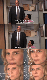 Kevin Explains the Accounting Family: YEAH, OSCAR'S THE DAD  I'M OSCAR'S DAD  AND ANGELA'S MY MOM Kevin Explains the Accounting Family