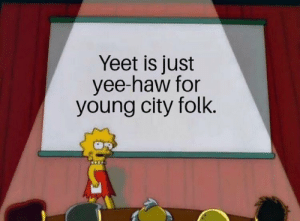 Memes, Yee, and 🤖: Yeet is just  yee-haw for  young city folk @nathanielknows is a must follow