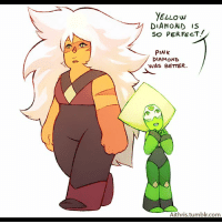 Memes, Tumblr, and Diamond: YELLOW  DIAMOND IS  SO PERFECT.  PINK  DIAMOND  WAS BETTER.  Aithris tumblr.com ARTIST - aithris steven universe stevenuniverse SU