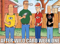 King of the Hill!  Credit: Chelsee Butler: Yep...  Yep.  Mmhmmm...  Yep  AFTER WILD CARD WEEK ONE King of the Hill!  Credit: Chelsee Butler
