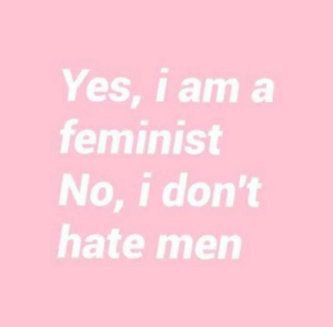 No I Dont: Yes, i am a  feminist  No, i don't  hate men