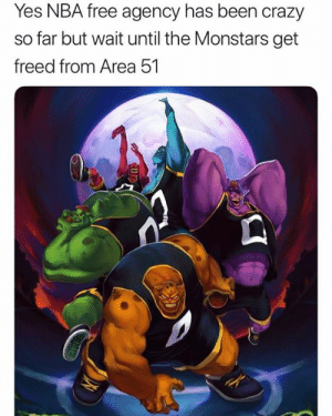HERE WE GO BOIS: Yes NBA free agency has been crazy  far but wait until the Monstars get  freed from Area 51 HERE WE GO BOIS