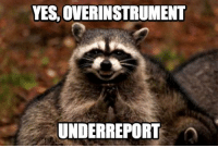 <p>Evil raccoon thinks this measurement-based engineering trend has some potential</p>: YES, OVERINSTRUMENT  UNDERREPORT <p>Evil raccoon thinks this measurement-based engineering trend has some potential</p>