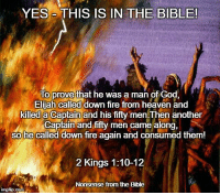 Image result for Fire from Heaven in the Bible Elijah