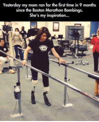 Memes, 🤖, and Marathon: Yesterday my mom ran for the first time in 9 months  since the Boston Marathon Bombings.  She's my inspiration...  CAI http://t.co/TIi8cdZhzP