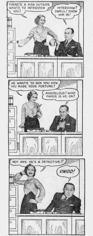 yesterdaysprint:    Daily News, New York, January 8, 1932     Don't go into the comments. : yesterdaysprint:    Daily News, New York, January 8, 1932     Don't go into the comments.