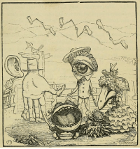 Tumblr, Blog, and Chicken: yesterdaysprint:  The Chicken Market and Other Fairy Tales, Charles H Bennett, 1877