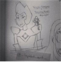 Memes, Sorry, and Camera: Yeueal Cavenching  'feet owPcAfL Yellow Diamond and her pearl Requested by @punpki (1-2) >>Art by me<< I'm sorry for the terrible quality camera...