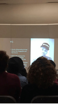 doggystyle: YG  Heavily influenced by G-Funk  classics lke Doggystyle and  The Chronic
