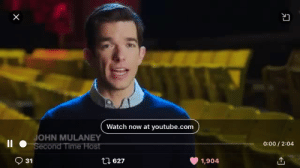 "Fresh, Target, and Tumblr: YI  Watch now at youtube.com  OHN MULANEY  0:00/ 2:04  9 31  627  1,904 spirit-and-oppy:  bishopl:  ""He never seems to age, I mean he's like a uh fresh 31 or a stale 76."" - Keenan Thompson   ~it was 44 times~"