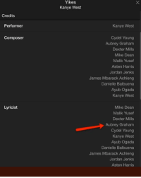 Friends, Kanye, and Memes: Yikes  Kanye West  Credits  Performer  Kanye West  Composer  Cydel Young  Aubrey Graham  Dexter Mills  Mike Dean  Malik Yusef  Asten Harris  Jordan Jenks  James Mbarack Achieng  Danielle Balbuena  Ayub Ogada  Kanye West  Lyricist  Mike Dean  Malik Yusef  Dexter Mills  Aubrey Graham  Cydel Young  Kanye West  Ayub Ogada  Danielle Balbuena  James Mbarack Achieng  Jordan Jenks  Asten Harris drakeseason ➡️ DM 5 FRIENDS FOR A SHOUTOUT