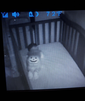 I put my son in a Halloween onesie without thinking much about it and gave myself a heart attack at 2am.: Yill  72°F I put my son in a Halloween onesie without thinking much about it and gave myself a heart attack at 2am.