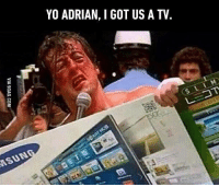 Black Friday: YO ADRIAN, I GOT US A TV. Black Friday