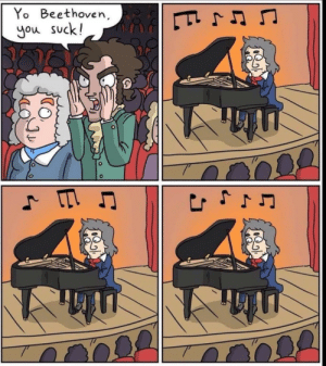 Yo, Beethoven, and You: Yo Beethoven  you suck!  111