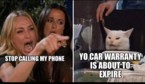 Phone, Yo, and Car: YO CAR WARRANTY  IS ABOUT TO  EXPIRE  STOP CALLING MY PHONE ...