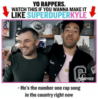 "Internet, Memes, and Rap: YO RAPPERS.  WATCH THIS IF YOU WANNA MAKE IT  LIKE SUPERDUPERKYLE  YVEE  - He's the number one rap song  in the country right now Hey artists ... when me and @superduperkyle jammed we broke down the new opportunities for all of you .. direct to listener dynamics are real.. u are so lucky to have the internet platform to get your ""break"" .. entrepreneurship artists"