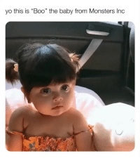 "Boo, Memes, and Monsters Inc: yo this is ""Boo"" the baby from Monsters Inc  1) monstersinc monsterincboo monsterincmemes"
