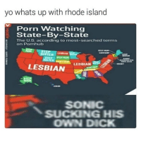 Pornhub, Yo, and Dick: yo whats up with rhode island  Porn Watching  State- By-State  E The U.S. according to most-searched terms  on Pornhub  STEP HOP  SISTER  LESBIAN STER  SISTER  STEP STEP MOM  SİSTER İART  SONIC  SUCKING HIS  OWN DICK  LESBIAN  LESBIANH  EDONY  ABAN  SONIC  SUCKING HIS  OWN DICK