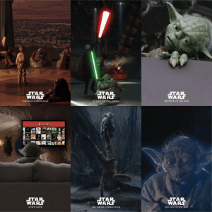 Yoda throughout the saga: Yoda throughout the saga