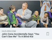 "YOR  John Cena Accidentally Says ""You  Can't See Me"" To A Blind Kid  HUZLERS.COM"