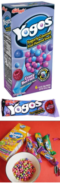 BRING THESE BACK 2K17: Yoses  Yogurty-Covered,  Fruit Flavored Snack  Crazy  Berries  Be  Ntrly &  Prin  ETWT48OZ(1389  az  6.   OS  Berries  Covered yogurt Fruity  Bits  ngs BRING THESE BACK 2K17