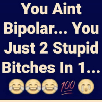 IT'S ALL LOVE: You Aint  Bipolar... You  Just 2 Stupid  Bitches In 1..  700 IT'S ALL LOVE