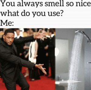 Memes, Smell, and Nice: You always smell so nice  what do you use?  Me: man it's just A X E body spray via /r/memes https://ift.tt/2yT1EeQ