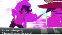 Sassy Sycamore, is that you? {Arokei}: You are challenged by  Pokémon Professor Sycamore!  Facebook. Ali Sassy Sycamore, is that you? {Arokei}
