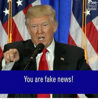 "ICYMI: President-elect DonaldTrump called BuzzFeed ""a failing pile of garbage"" and slammed CNN for reporting on ""fake news"" during a press conference today.: You are fake news!  FOX  NEWS ICYMI: President-elect DonaldTrump called BuzzFeed ""a failing pile of garbage"" and slammed CNN for reporting on ""fake news"" during a press conference today."