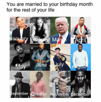 Ladies.....: You are married to your birthday month  for the rest of your life  Jan  Feb  ri  ひ、  eptember Qctober November Deceriber Ladies.....