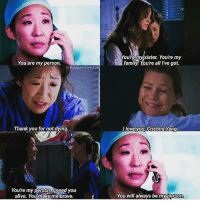 I love them so much❤️❤️ I hope Christina comes back because Christiana is Merediths person! And Meredith is Christiana's person!😩😩 The show is so different now without them.😥 Seeing them together was one of the best things to watch in the show. christina meredith missthemsomuch Theyaregoals: You are my person.  Thank you for not dying.  You're my person need you  alive. You makeime brave.  Youre my sister. You're my  family You're all I've got.  love you Cristina Yang.  You will always be myperson I love them so much❤️❤️ I hope Christina comes back because Christiana is Merediths person! And Meredith is Christiana's person!😩😩 The show is so different now without them.😥 Seeing them together was one of the best things to watch in the show. christina meredith missthemsomuch Theyaregoals
