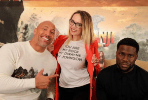 Kevin Hart, The Rock, and Rock: YOU ARE  MY ROCK  Y DWAYNE  Y JOHNSON The Rock, The Rock fan.and kevin hart