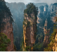 Hallelujah, Memes, and Wow: You are not looking at a scene from the movie 'Avatar.' These breathtaking precipitous pillars could be found in China's first ever declared national forest park: Zhangjiajie. The out-of-this-world formation of 3,000 vertical rock pillars, lush foliage, and deep valleys served as inspiration for the floating Hallelujah Mountains of Pandora in James Cameron's 2009 film. zhangjiajie avatar wow science