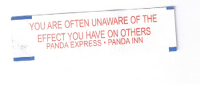 Dm for promos : YOU ARE OFTEN UNAWARE OF THE  EFFECT YOU HAVE ON OTHERS  PANDA EXPRESS PANDA INN Dm for promos
