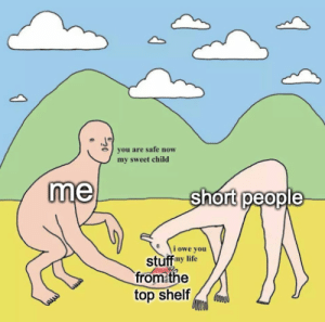 Life, Tumblr, and Blog: you are safe novw  my sweet child  me  short people  1 owe you  stuff my life  from the  top shelf fineillsignup:see i only use my powers for good i told you