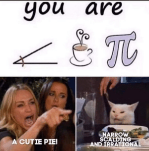 Reddit, Coffee, and Pie: you are  TC  NARROW  SCALDING  AND IRRATIONAL  A CUTIE PIE! Wait isn't it angle coffee pie