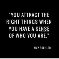 "thirdeyethirst: ""YOU ATTRACT THE  RIGHT THINGS WHEN  YOU HAVE A SENSE  OF WHO YOU ARE.""  AMY POEHLER  EEE""  HIS E.  TWEA  NR PO  CSS  AGA  RNEY  TI  THV  A TI A 0  AT  ll  0HUW  UTJW  YG0F  1Y0 thirdeyethirst"