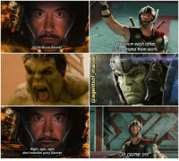 Hulk given zero fuck to his fellow Avengers. 😂😂 . . . . . . . . . . [ captainamericacivilwar doctorstrange thor spiderman avengers hulk chrishemsworth robertdowneyjr blackpanther steverogers tonystark mcu marvel peterparker loki theavengers marvelcomics gotg tomhiddleston agentsofshield civilwar captainamerica ironman thorragnarok loki guardiansofthegalaxy blackwidow groot starlord iamgroot ]: You  Bruce Banner  Right, right, right,  don't mention puny Banner.  On  We know each other,  he's a friend from work.  Oh come on Hulk given zero fuck to his fellow Avengers. 😂😂 . . . . . . . . . . [ captainamericacivilwar doctorstrange thor spiderman avengers hulk chrishemsworth robertdowneyjr blackpanther steverogers tonystark mcu marvel peterparker loki theavengers marvelcomics gotg tomhiddleston agentsofshield civilwar captainamerica ironman thorragnarok loki guardiansofthegalaxy blackwidow groot starlord iamgroot ]