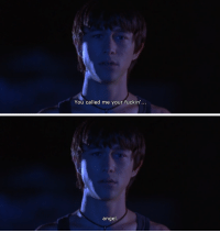 Tumblr, Angel, and Blog: You called me your fuckin'...   angel issietheshark:mysterious skin (2004)